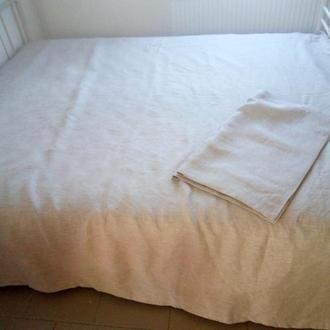 Льняной постельный комплект: (две наволочки 50/70см  и пододеяльник 200/240см)