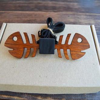 Деревянная галстук - бабочка Рыба
