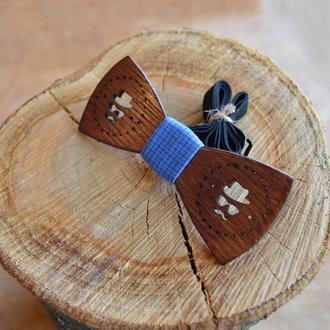 Деревянная галстук - бабочка Кежуал