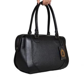 Кожаная женская сумка-саквояж м.136