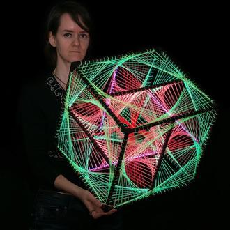 Fluorescent LED Cube (37 cm)