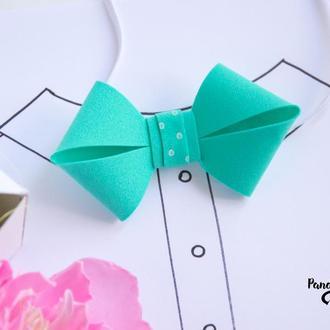 Детская галстук-бабочка мятная
