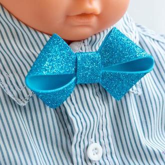 Детская галстук-бабочка голубая