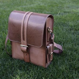 Элитная мужская кожаная сумка