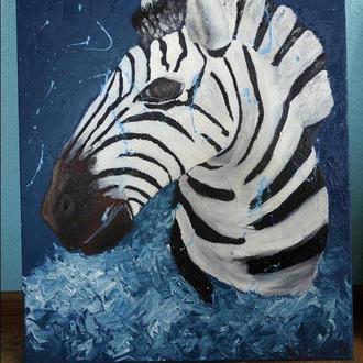 Зебра, из серии Саванна