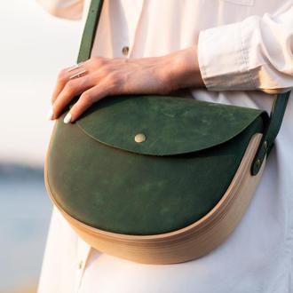 REA Green - сумка из натуральной кожи и дерева
