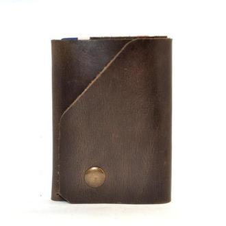Мужской кожаный кошелек. Портмоне.