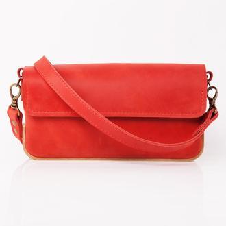 ERA Red Авторська сумка з натуральної шкіри та дерева