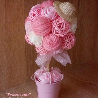 Топиарий «Розовые сны»