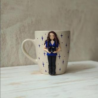Чашка для кофе, Фотограф, Подарочные чашки, Чашки на заказ, Необычные чашки