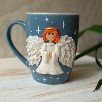 Чашка на подарок, Чашка Ангел, Оригинальная чашка, Необычная чашка, Необычный подарок