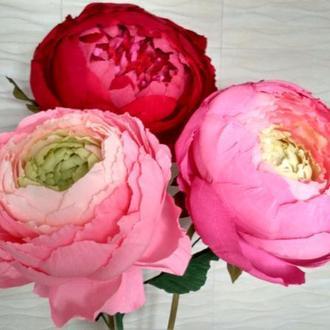 Большие, гигантские, ростовые цветы для интерьера, декора свадьбы, Дня рождения, витрины, фотосессии