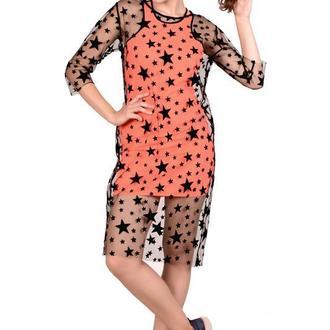 Двойное платье-футляр со звездочками