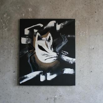 """Картина маслом """"Noh Kitsune Mask"""""""
