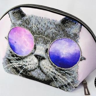 Сумка косметичка Кот в очках от Пушки Наталии