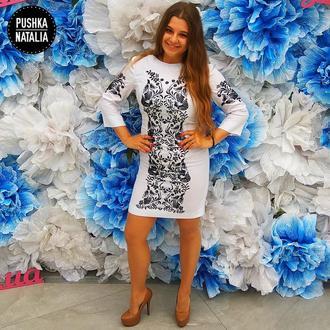 Авторское платье вышитое бисером от дизайнера Пушки Наталии
