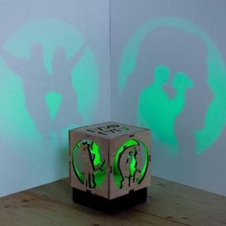 "Деревяна нічна лампа-проектор ""Ла Ла Ленд"""