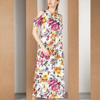 Платье в цветах.