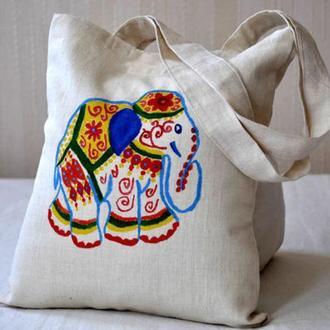 Сумка со слоном, сумка в индийском стиле