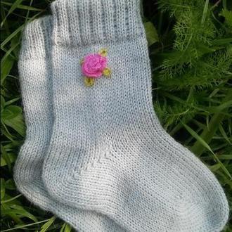 Носочки вязаные для девочки