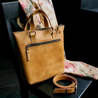 Сумка ZIP, сумка органайзер, из кожи через плечо, ручной работы, сумка из натуральной кожи