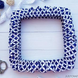 Чехол на снапы (q-snap) Синие четырехлистники