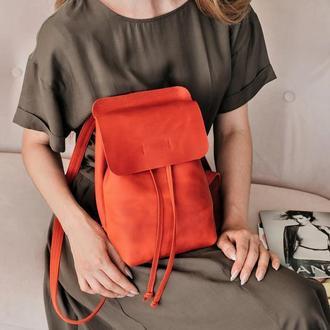 Шкіряний рюкзак, рюкзак из кожи, городской рюкзак, рюкзак ручной работы, рюкзак на стяжке