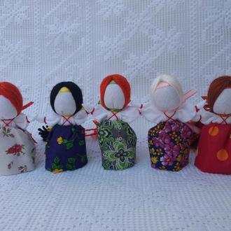 "Подарок-оберег девушкам и женщинам ""На счастье"" Кукла-мотанка."