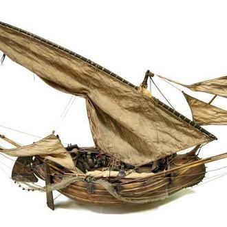 Модель португальской рыбацкой лодки мулеты.