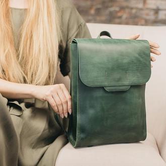 Рюкзак , из кожи Крейзи Хорс, городской рюкзак, рюкзак унисекс, шкіряний рюкзак, рюкзак