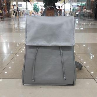 Большой женский рюкзак серебряный