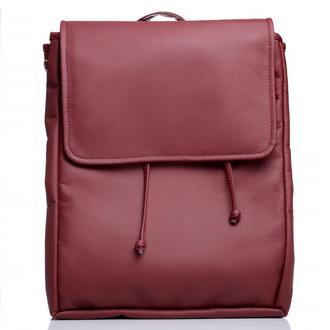 Женский большой рюкзак бордо