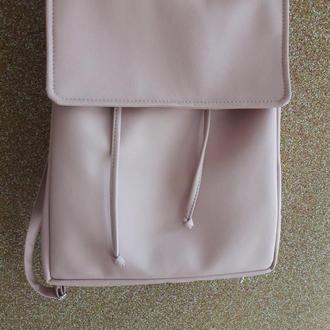 Вместительный женский рюкзак пудра