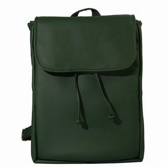 Вместительный женский рюкзак зеленый