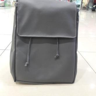 Большой женский рюкзак серый