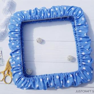 Чехол для снапов (q-snap) Горох на голубом фоне (джинс)