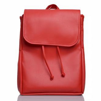 Большой женский рюкзак красный