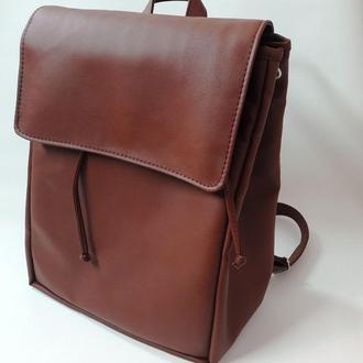 Большой женский рюкзак коричневый