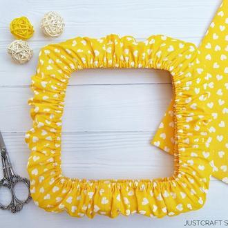 Чехол на снапы (q-snap) Сердца на желтом фоне Just Craft