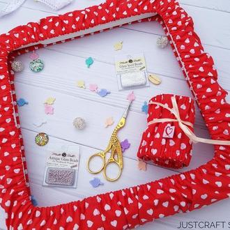 Чехол на снапы (q-snap) Сердца на красном фоне Just Craft