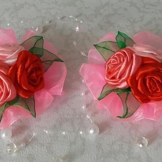 Заколка с розами, заколка детская