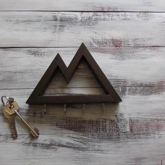 Настінна ключниця Mountains Dark brown