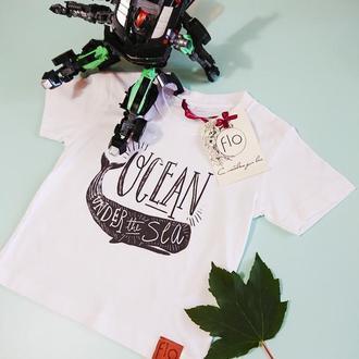 Якісна футболка бавовна із принтом (прямий друк)
