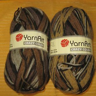 Пряжа ′Crazy Color′ для вязания высокого качества ТМ ′YarnArt′
