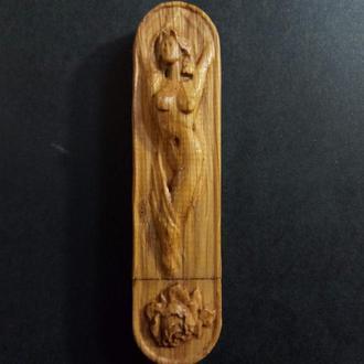 "Флешка деревянная ""Дева"" 3D 16GBit"