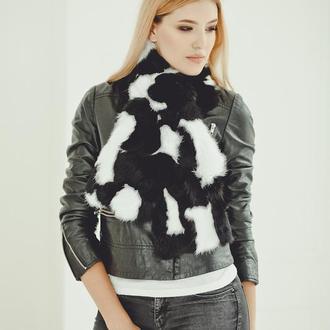 Меховой шарф из кролика