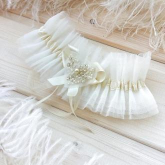 """Подвязка невесты """"Сердечко"""""""
