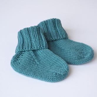 Вязаные носки из мериноса. Детские носочки