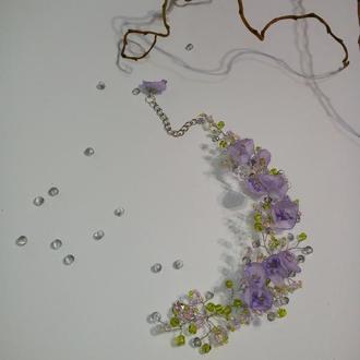 Плетеный ажурный браслет.