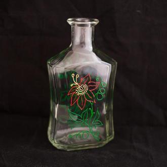 Бутылка декорированная Аленький цветочек